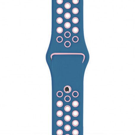 Curea Sport Perforata, compatibila Apple Watch 1/2/3/4, Silicon, 38mm/40mm, Turcoaz / Roz la pret imbatabile de 44,99 lei , intra pe PrimeShop.ro.ro si convinge-te singur