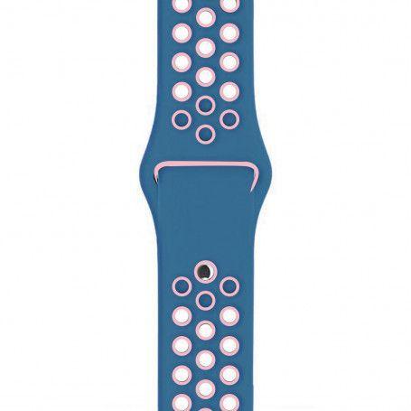 Curea Sport Perforata, compatibila Apple Watch 1/2/3/4, Silicon, 42mm/44mm, Turcoaz / Roz la pret imbatabile de 44,99lei , intra pe PrimeShop.ro.ro si convinge-te singur