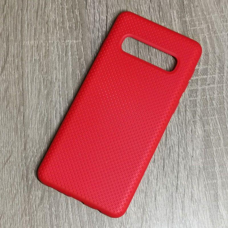 Husa din silicon pentru Samsung Galaxy S10 cu perforatii si interior din microfibra  - 3