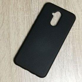 Husa din silicon pentru Huawei Mate 20 Lite cu perforatii si interior din microfibra  - 1