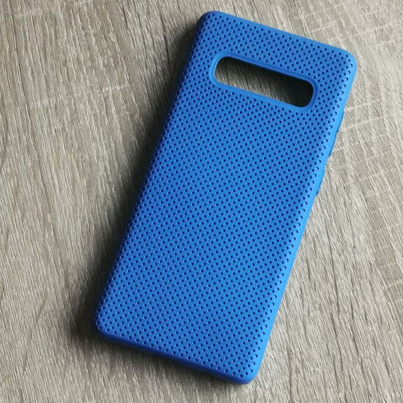Husa din silicon pentru Samsung Galaxy S10 Plus cu perforatii si interior din microfibra  - 3