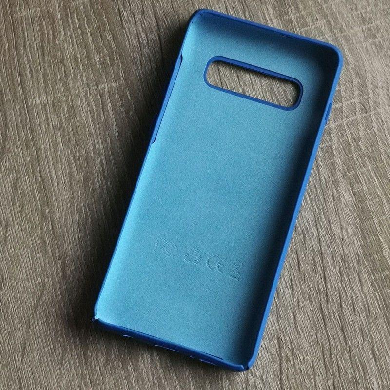Husa din silicon pentru Samsung Galaxy S10 Plus cu perforatii si interior din microfibra - 2