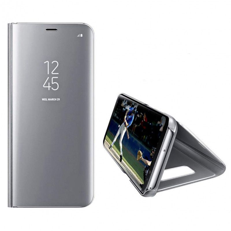 Husa Telefon Samsung S8 Flip Mirror Stand Clear View
