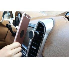 Suport Auto Magnetic pentru Telefon sau Tableta cu Fixare in Grila de Ventilatie, Rotire 360 Grade  - 9