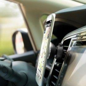 Suport Auto Magnetic pentru Telefon sau Tableta cu Fixare in Grila de Ventilatie, Rotire 360 Grade  - 10