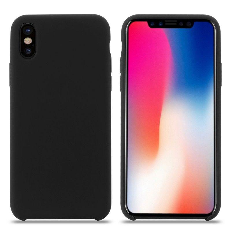 Husa Silicon iPhone X / iPhone XS, interior din microfibra