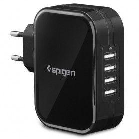 Incarcator Retea Priza, Spigen F401, 4 port-uri USB pana la 2.4A, Negru Spigen - 1