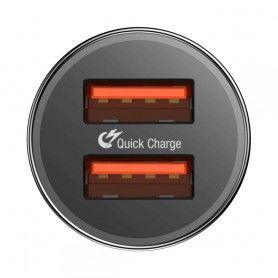 Incarcator Auto, Baseus B01, Quick Charge 3.0 , 2 x Usb ,Negru Baseus - 3