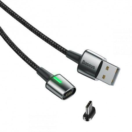 Cablu de date, incarcare, din zinc,magnetic, Baseus USB Type-C 2.4A 1m, Negru la pret imbatabile de 44,99lei , intra pe PrimeShop.ro.ro si convinge-te singur