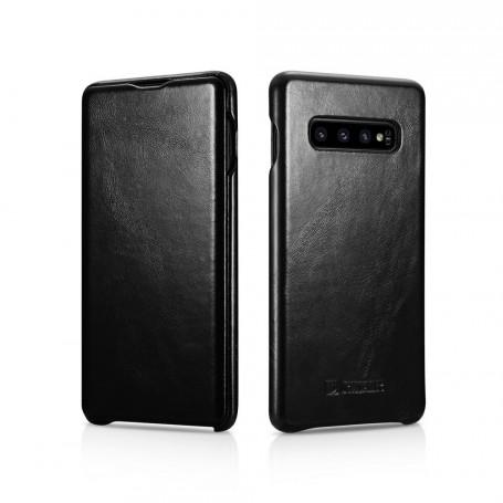 Husa Telefon Samsung S10+ Plus, Icarer Vintage Tip Carte Flip, Piele Naturala, Negru la pret imbatabile de 120,00LEI , intra pe PrimeShop.ro.ro si convinge-te singur