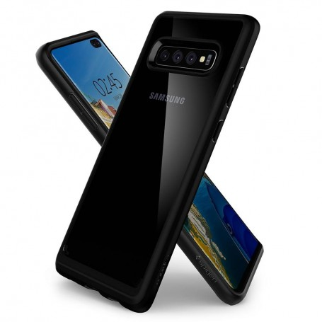 Husa Telefon Samsung S10+ Plus, Spigen Ultra Hybrid, Negru la pret imbatabile de 80,00LEI , intra pe PrimeShop.ro.ro si convinge-te singur