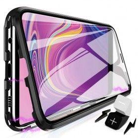 Husa Magnetica 360 cu sticla fata spate, pentru Samsung Galaxy S9+ Plus