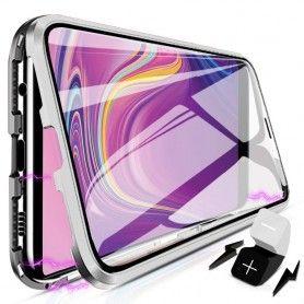 Husa Magnetica 360 cu sticla fata spate, pentru Samsung Galaxy S9+ Plus  - 3
