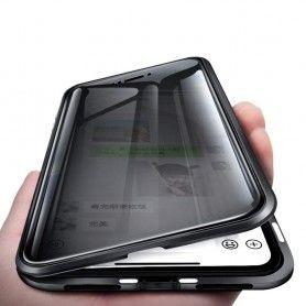 Husa iPhone X / XS Magnetica 360 fata spate Privacy Anti Spionaj  - 1