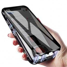 Husa iPhone X / XS Magnetica 360 fata spate Privacy Anti Spionaj  - 2