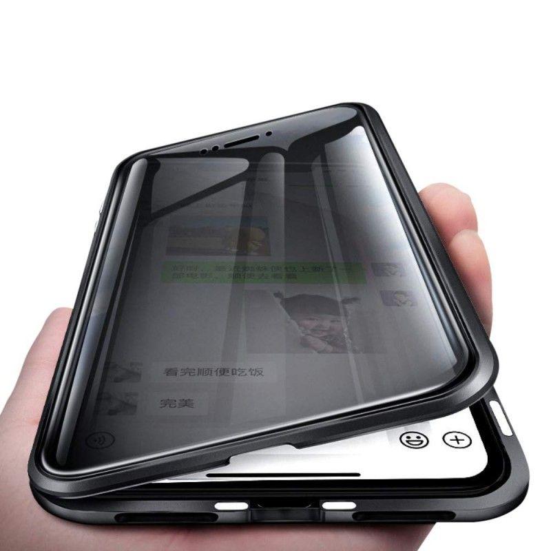 Husa iPhone 7 / 8 Magnetica 360 fata spate Privacy Anti Spionaj