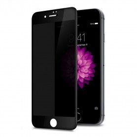 Folie protectie iPhone 7 Plus / 8 Plus, sticla securizata, Privacy Anti Spionaj , Neagra  - 1
