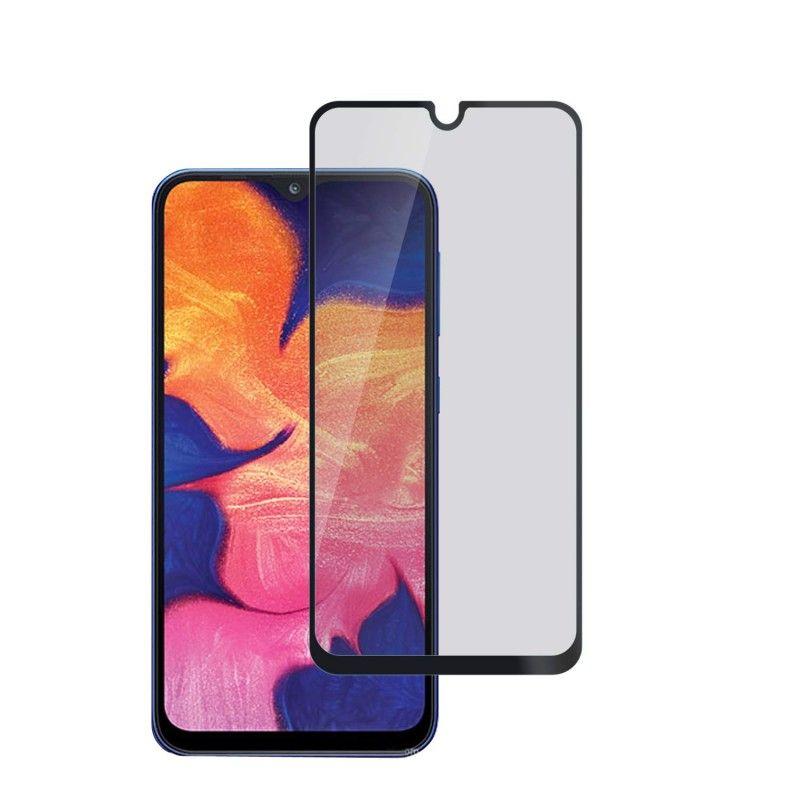 Folie protectie Samsung A40, sticla securizata, Privacy Anti Spionaj, Neagra  - 1