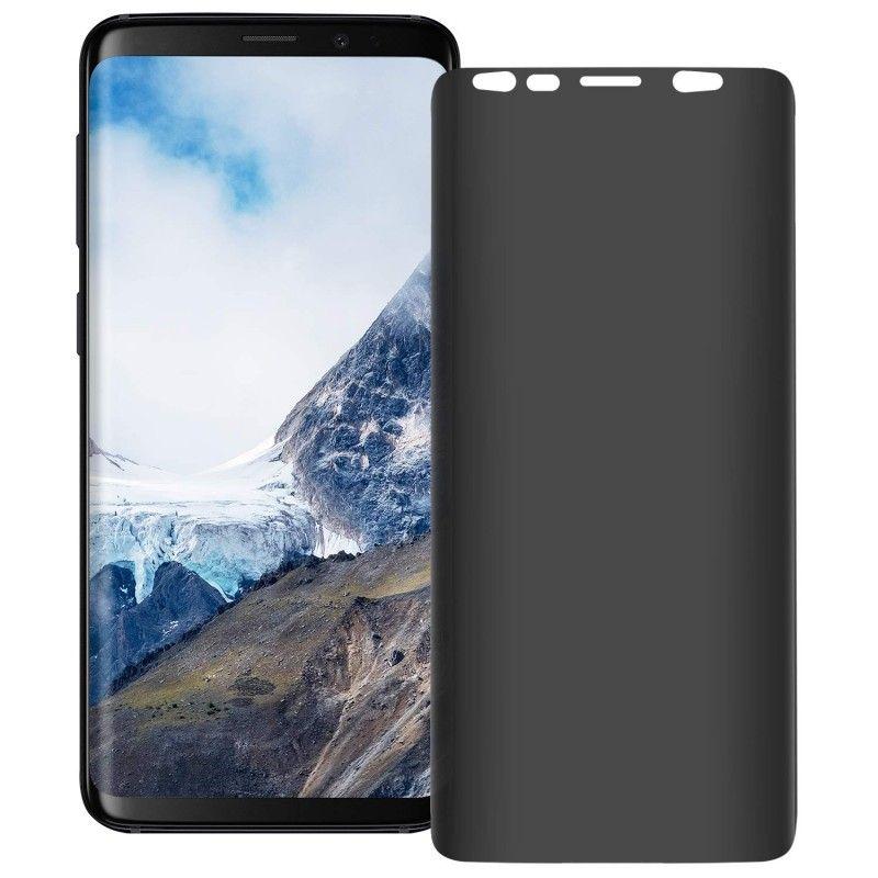 Folie protectie Samsung S9+ Plus, sticla securizata, Privacy Anti Spionaj  - 1