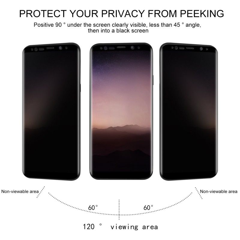 Folie protectie Samsung S9, sticla securizata, Privacy Anti Spionaj - 2