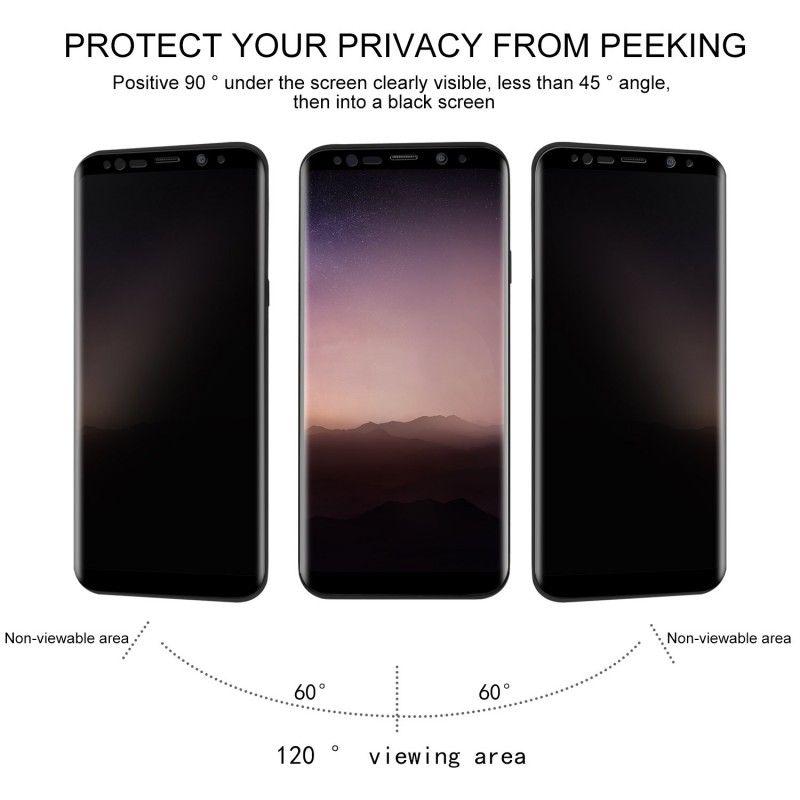 Folie protectie Samsung S8, sticla securizata, Privacy Anti Spionaj - 2