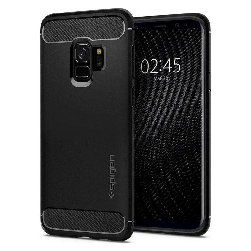 Husa Galaxy S9 Spigen Rugged Armor Matte Black