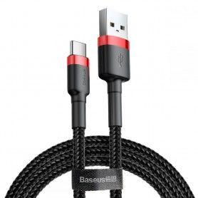 Cablu de date Baseus Cafule Type-C 200cm Red/black Baseus - 3