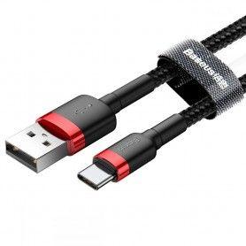 Cablu de date Baseus Cafule Type-C 200cm Red/black Baseus - 4