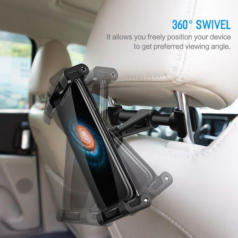 Suport Auto Universal cu Prindere in Tetiera - Rock Car Headrest Mount Black - 2