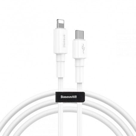 Cablu de date - Baseus Type C PD / Lightning 18W QC3.0 100cm White la pret imbatabile de 45,99lei , intra pe PrimeShop.ro.ro si convinge-te singur