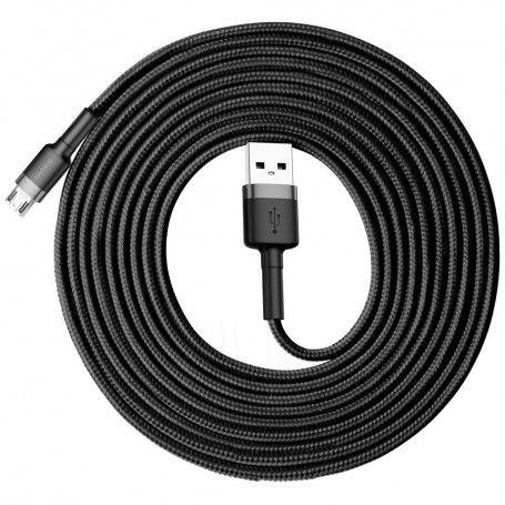 Cablue de date - Baseus Cafule Micro-usb 300cm Grey/black la pret imbatabile de 54,90LEI , intra pe PrimeShop.ro.ro si convinge-te singur