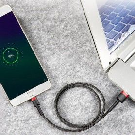 Cablue de date - Baseus Cafule Micro-usb 300cm Grey/black Baseus - 8