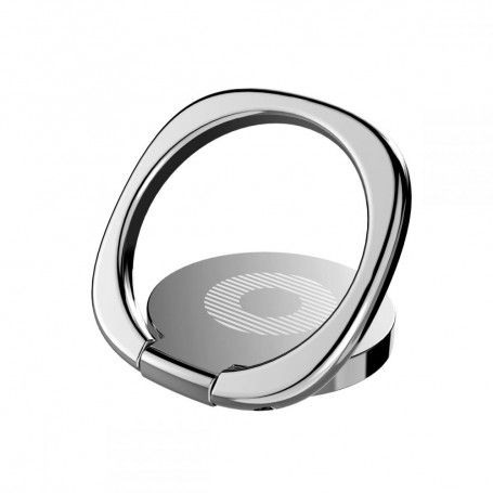 Suport Telefon Universal cu Inel - Baseus Magnetic 360 Phone Ring Silver