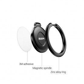 Suport Telefon Universal cu Inel - Esr Magnetic Phone Ring Black Esr - 4