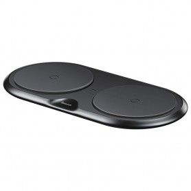 Incarcator Baseus Dual Wireless Charger Black + Incarcator retea Quick Charge 3.0 Baseus - 1