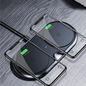 Incarcator Baseus Dual Wireless Charger Black + Incarcator retea Quick Charge 3.0 Baseus - 10