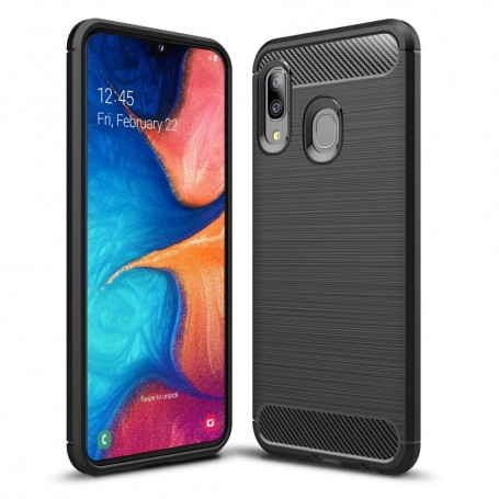 Husa Galaxy A20e - Tech-protect Tpucarbon Black