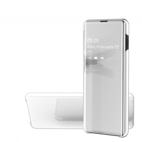 Husa Samsung Galaxy A10 - Noul Design Flip Mirror Clear View Tip Carte - Argintiu la pret imbatabile de 51,00LEI , intra pe PrimeShop.ro.ro si convinge-te singur
