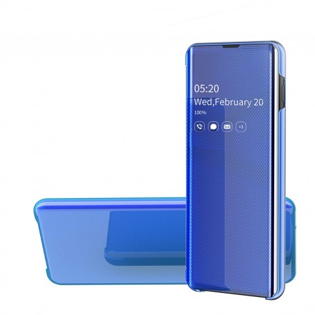 Husa Samsung Galaxy A40 - Noul Design Flip Mirror Clear View Tip Carte - Albastra la pret imbatabile de 49,00LEI , intra pe PrimeShop.ro.ro si convinge-te singur