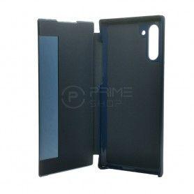 Husa Samsung Galaxy Note 10+ Plus - Flip semi transparent Smart View Stand - Midnight Blue  - 4