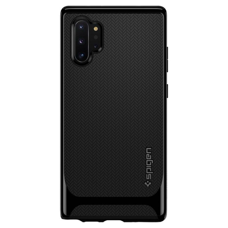 Husa Samsung Galaxy Note 10+ Plus - Spigen Neo Hybrid Midnight Black - 2
