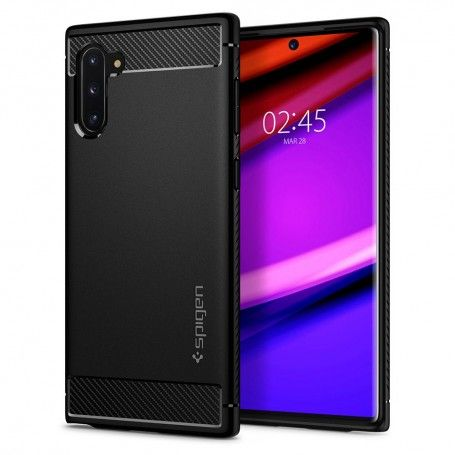 Husa Samsung Galaxy Note 10 - Spigen Rugged Armor Matte Black