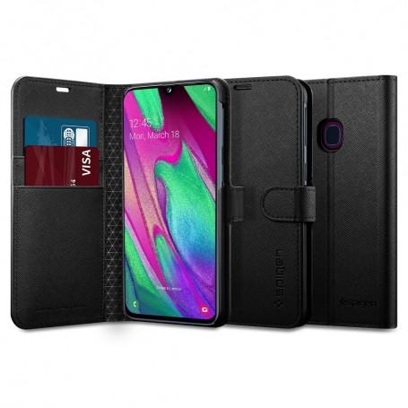 Husa Samsung Galaxy A40 - Spigen Wallet S Black la pret imbatabile de 79,90LEI , intra pe PrimeShop.ro.ro si convinge-te singur