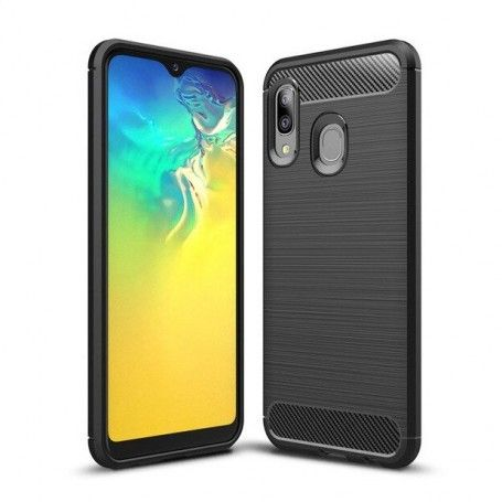 Husa Tpu Carbon Fibre pentru Samsung Galaxy A20e, Neagra la pret imbatabile de 39,00LEI , intra pe PrimeShop.ro.ro si convinge-te singur
