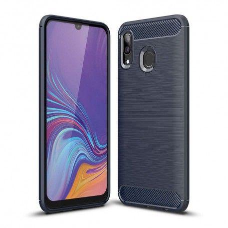 Husa Tpu Carbon Fibre pentru Samsung Galaxy A40, Midnight Blue la pret imbatabile de 25,00LEI , intra pe PrimeShop.ro.ro si convinge-te singur