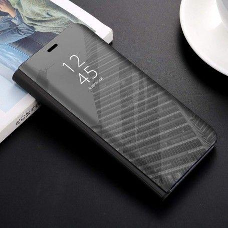 Husa tip carte pentru Samsung Galaxy A20e Flip Mirror Stand Clear View, Neagra la pret imbatabile de 39,00LEI , intra pe PrimeShop.ro.ro si convinge-te singur