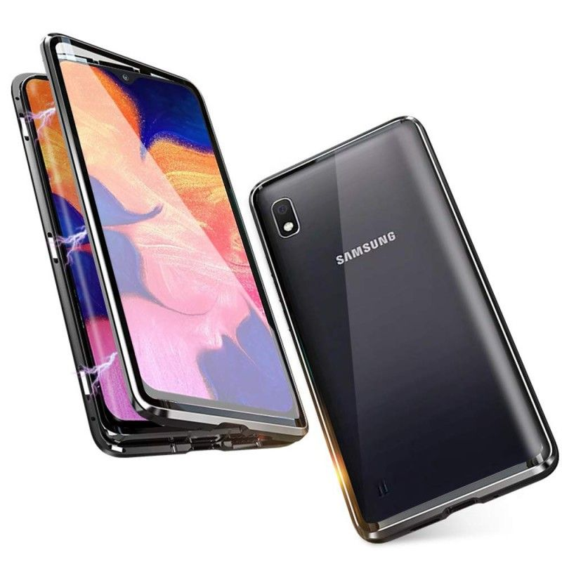 Husa Magnetica 360 cu sticla fata spate, pentru Samsung Galaxy A10  - 1