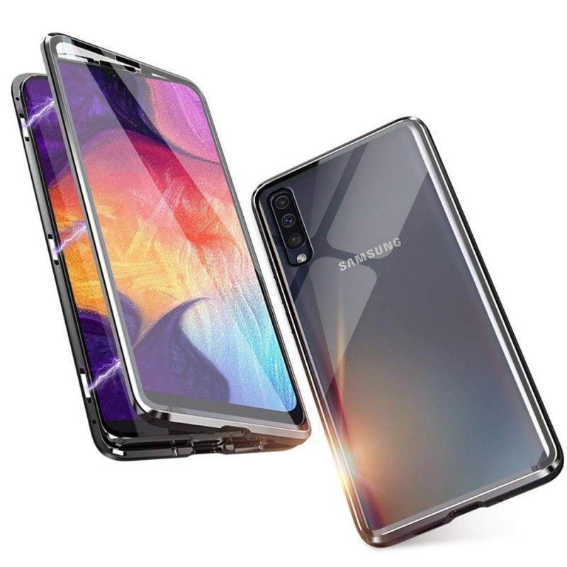 Husa Magnetica 360 cu sticla fata spate, pentru Samsung Galaxy A30s / A50 / A50s