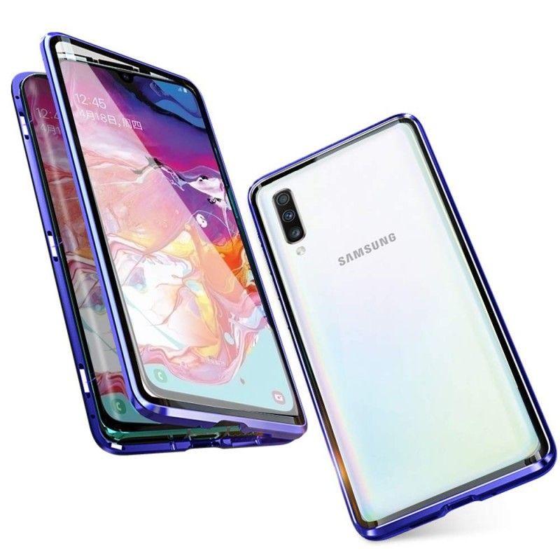 Husa Magnetica 360 cu sticla fata spate, pentru Samsung Galaxy A70 - 2
