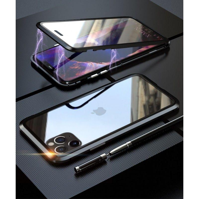 Husa Magnetica 360 cu sticla fata spate, pentru iPhone XI 11 Pro Max, Neagra - 2